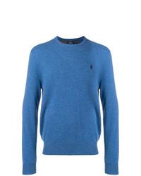 Мужской синий свитер с круглым вырезом от Polo Ralph Lauren