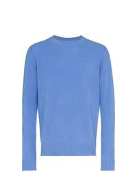 Мужской синий свитер с круглым вырезом от The Elder Statesman
