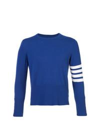 Мужской синий свитер с круглым вырезом от Thom Browne
