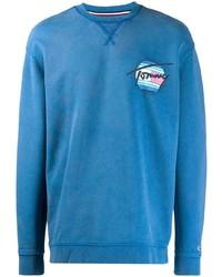 Мужской синий свитер с круглым вырезом от Tommy Jeans