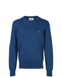 Мужской синий свитер с круглым вырезом от Vivienne Westwood