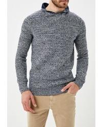 Синий свитер с отложным воротником от Colin's