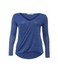 Женский синий свитер с v-образным вырезом от Amplebox Size Plus