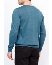 Мужской синий свитер с v-образным вырезом от GREG