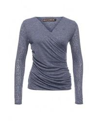 Женский синий свитер с v-образным вырезом от QED London