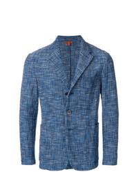 Синий твидовый пиджак