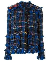 Женский синий твидовый пиджак от MSGM
