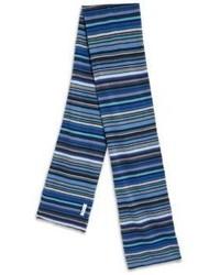 Синий шарф в горизонтальную полоску