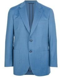 Синий шерстяной пиджак