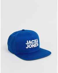 Мужская синяя бейсболка с принтом от Jack & Jones