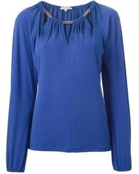 Синяя блузка с длинным рукавом от MICHAEL Michael Kors
