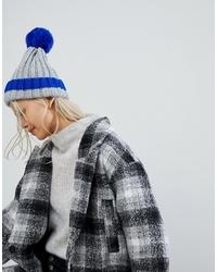 Женская синяя вязаная шапка от Brave Soul