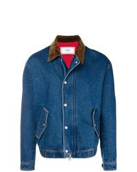 Мужская синяя джинсовая куртка от AMI Alexandre Mattiussi