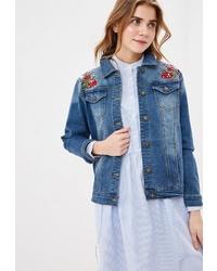 Женская синяя джинсовая куртка от Baon