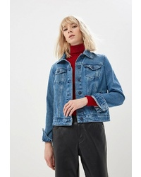 Женская синяя джинсовая куртка от BOSS HUGO BOSS