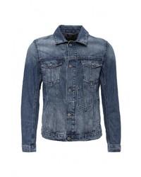 Мужская синяя джинсовая куртка от Boss Orange
