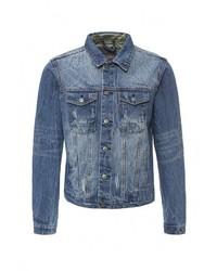 Мужская синяя джинсовая куртка от Bruebeck