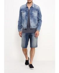 Мужская синяя джинсовая куртка от Calvin Klein Jeans