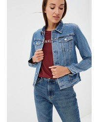 Женская синяя джинсовая куртка от Calvin Klein Jeans