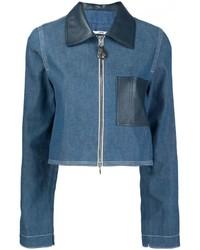 Женская синяя джинсовая куртка от Edun
