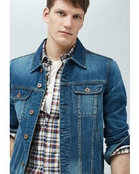 Мужская синяя джинсовая куртка от Mango Man