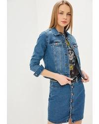 Женская синяя джинсовая куртка от Noisy May