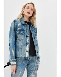 Женская синяя джинсовая куртка от One Teaspoon