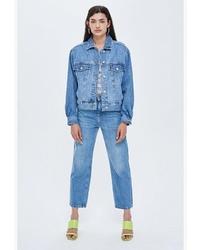 Женская синяя джинсовая куртка от Topshop