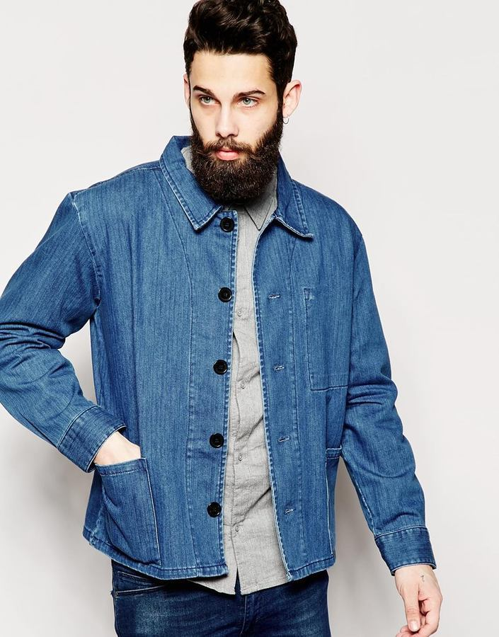 ... Мужская синяя джинсовая куртка от WÅVEN ... 74eea3a9bc413
