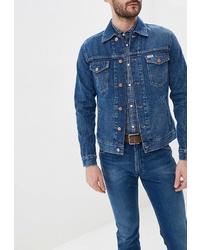 Мужская синяя джинсовая куртка от Wrangler