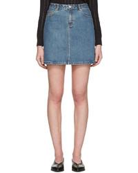 Синяя джинсовая мини-юбка от A.P.C.