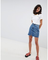 Синяя джинсовая мини-юбка от ASOS DESIGN