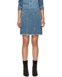 Синяя джинсовая мини-юбка от Chloé