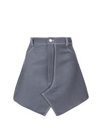 Синяя джинсовая мини-юбка от Dion Lee