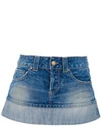 Синяя джинсовая мини-юбка от Dondup