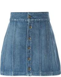 Синяя джинсовая мини-юбка от Frame Denim