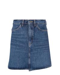 Синяя джинсовая мини-юбка от MiH Jeans