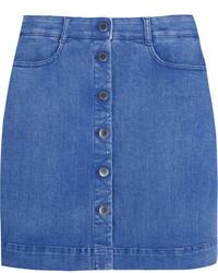 Синяя джинсовая мини-юбка от Stella McCartney