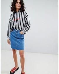 Синяя джинсовая мини-юбка от Uncivilised
