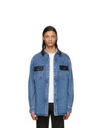 Мужская синяя джинсовая рубашка от Alexander Wang