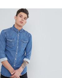 Мужская синяя джинсовая рубашка от ASOS DESIGN