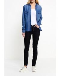 Женская синяя джинсовая рубашка от B.young