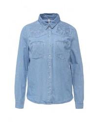 Женская синяя джинсовая рубашка от Bestia