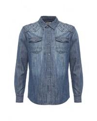 Мужская синяя джинсовая рубашка от Biaggio