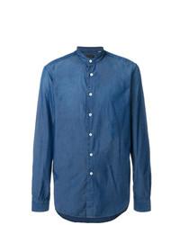 Мужская синяя джинсовая рубашка от Dell'oglio