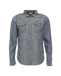 Мужская синяя джинсовая рубашка от Diesel