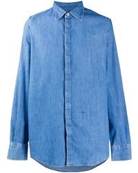 Мужская синяя джинсовая рубашка от DSQUARED2