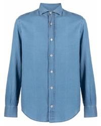 Мужская синяя джинсовая рубашка от Eleventy