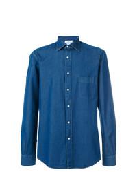 Мужская синяя джинсовая рубашка от Fashion Clinic Timeless