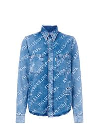 Женская синяя джинсовая рубашка от Filles a papa